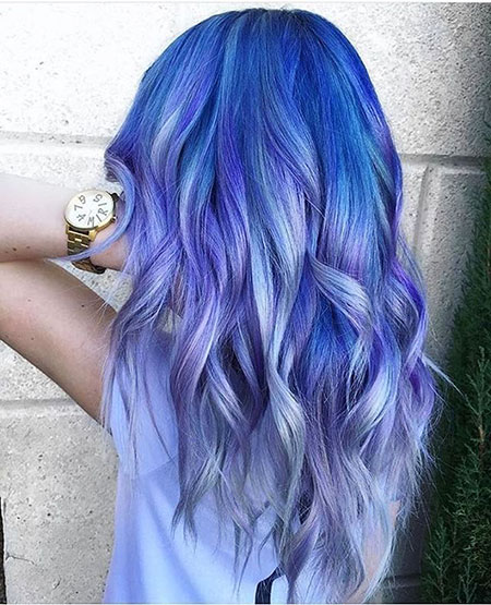 Hair Blue Purple Pastel