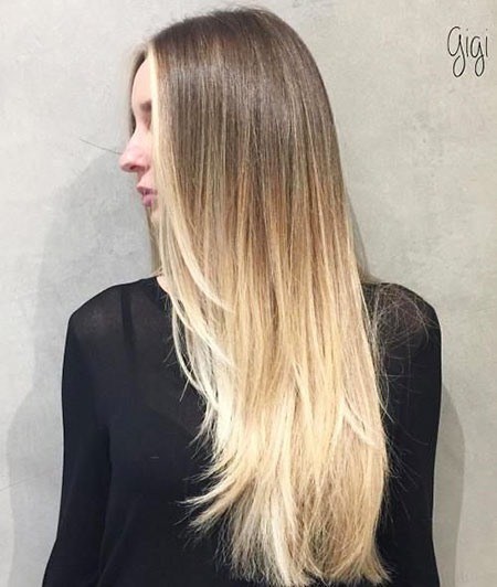 Hair Thin Long Ombre