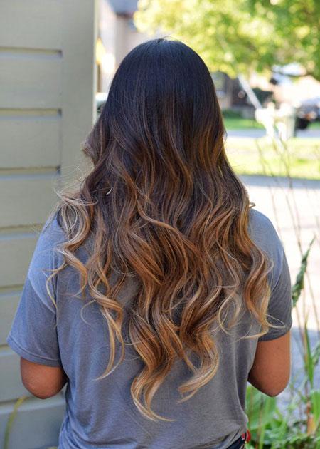 Hair Caramel Brown Ombre