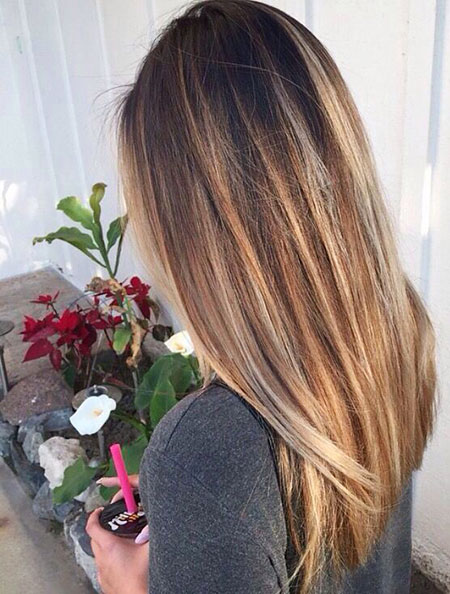 Balayage Ombre Straight Hair