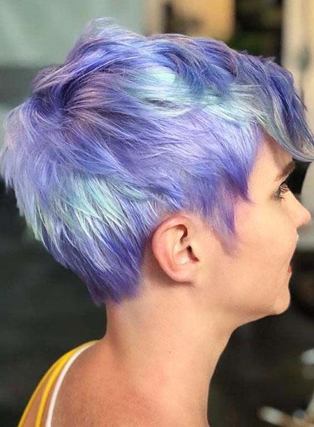 Pixie Hair Choppy Blue