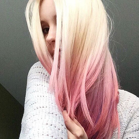 Hair Pink Ombre Pastel