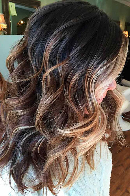 Hair Balayage Brown Fall