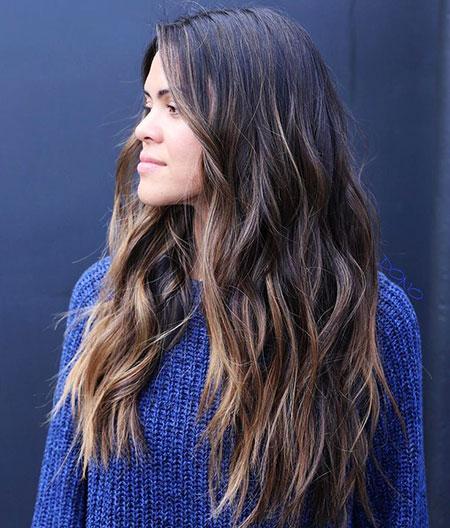 Hair Balayage Long Brown
