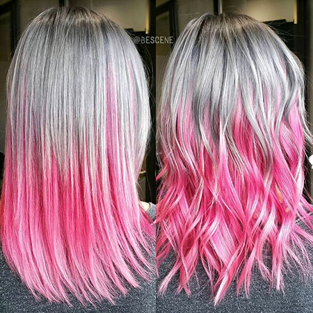 Hair Color Ombre Pink