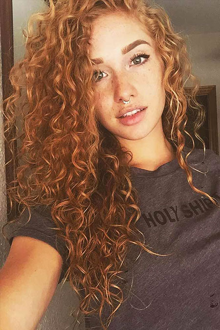 Hair Curly Curls Red