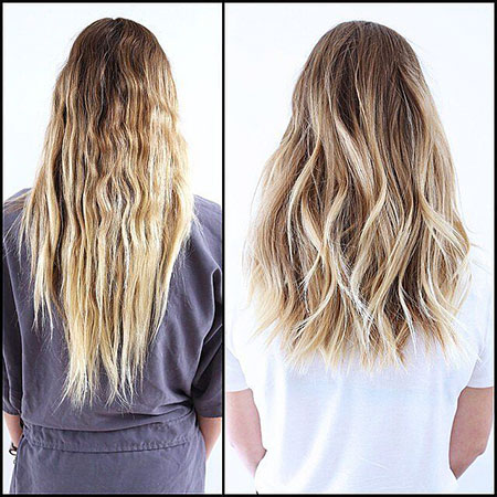 Hair Blonde Medium Long