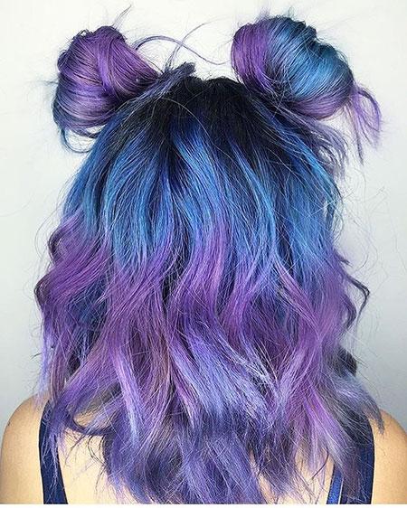 Hair Purple Color Coloring