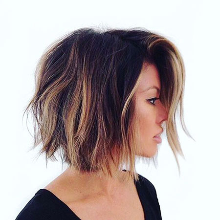 Balayage Bob Hair Dark
