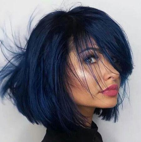 Hair Blue Black Color