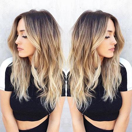 Hair Blonde Balayage Color