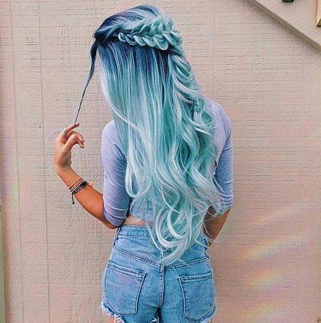 Hair Blue Pastel Mermaid