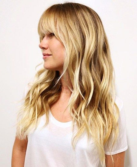 Hair Blonde Long Bangs