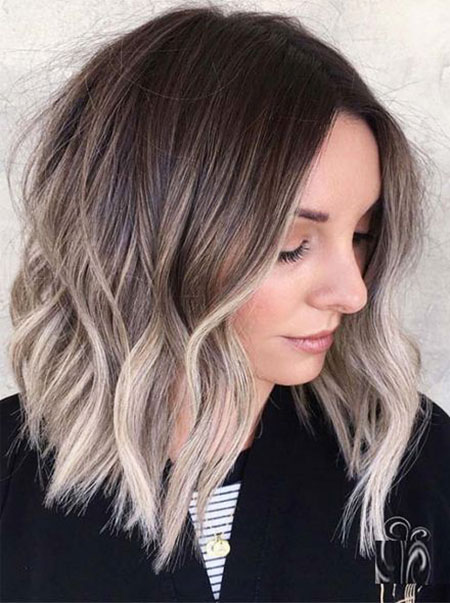 Blonde Medium Hair Ash