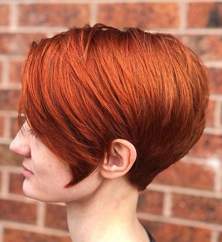 Bob Hair Red Balayage