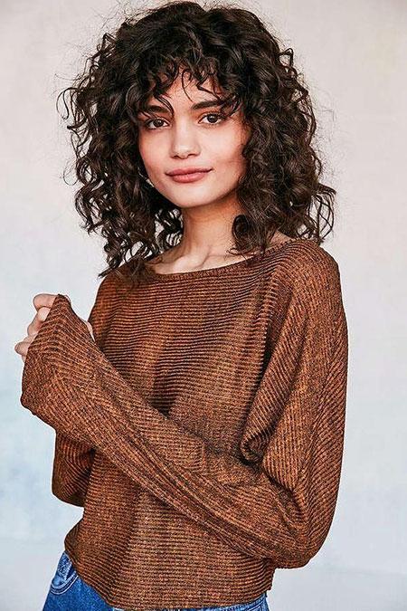 Curly Bang, Curly Hair Bangs Curls