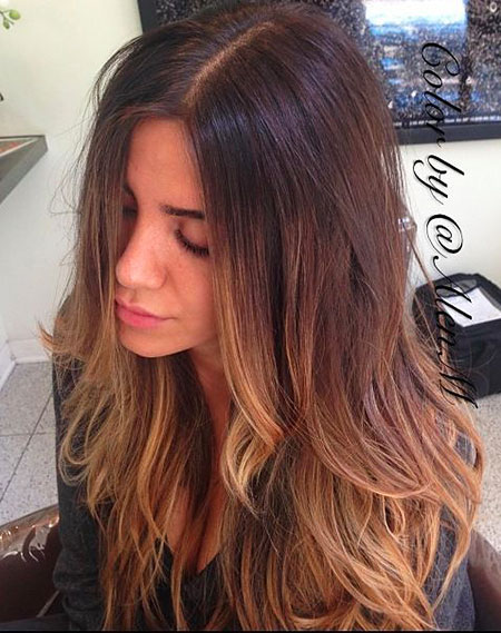 Hair Balayage Brown Ombre
