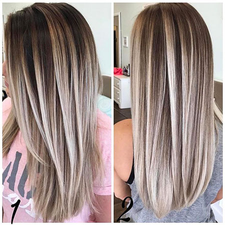 Blonde Hair Women Balayage