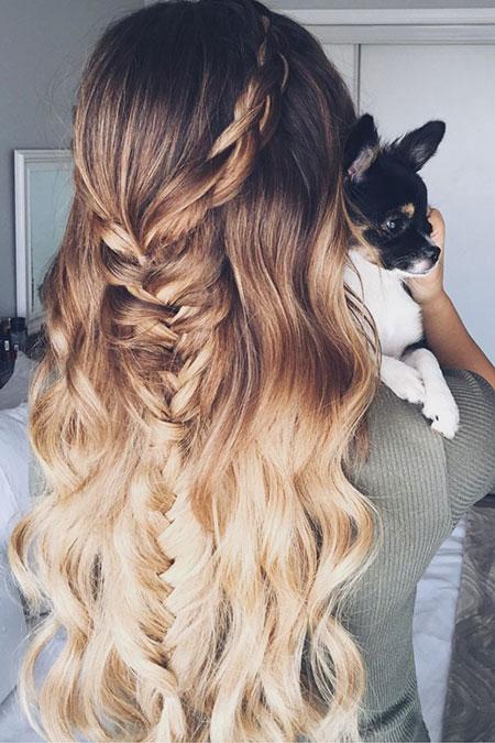 Hair Ombre Braid Fishtail