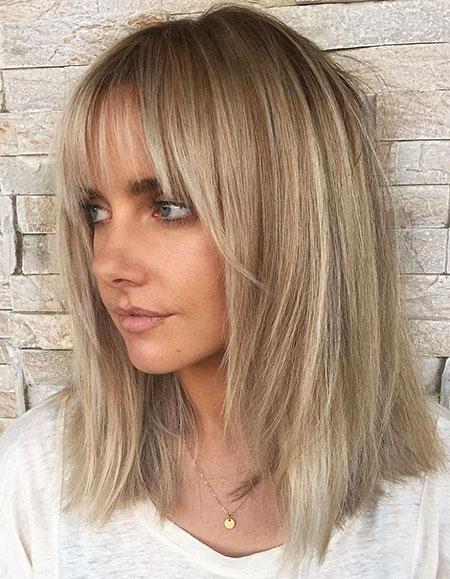 Medium Blonde Layered Straight