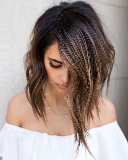Balayage Hair Choppy Brown