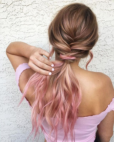 Hair Pink Ombre Gold