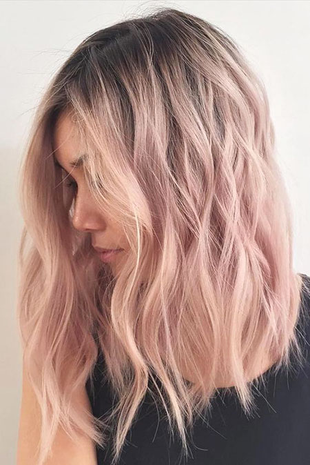 Pale Pink, Hair Gold Color Rose