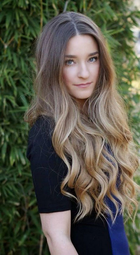 Natural Brown Hair and Ombre, Hair Color Wavy Long