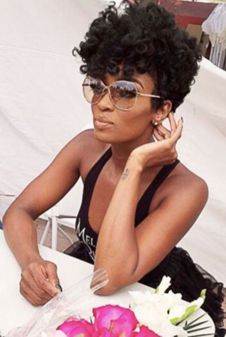 Short Afro, Hair Natural Tapered Curly