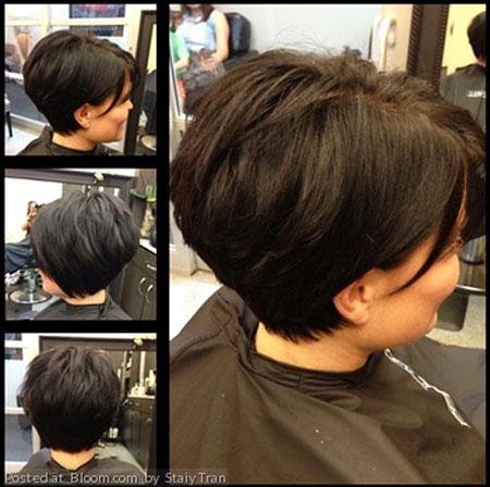 Wedge Hair Cut, Thick Bob Layered Hairtyles