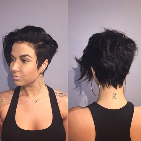 Long Pixie Hair, Pixie Long Side Parted