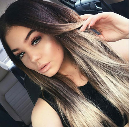 Dark to Blonde, Makeup Hair Ombre Straight