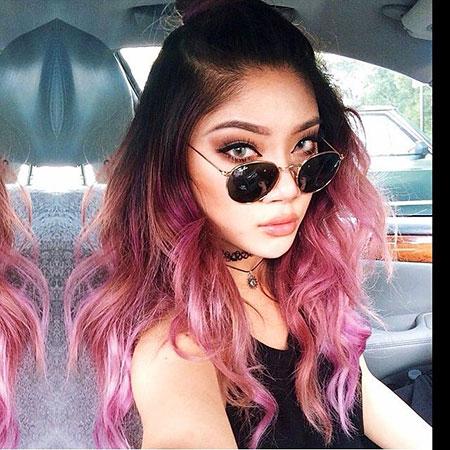 Unicorn Hair, Hair Pink Ombre Purple