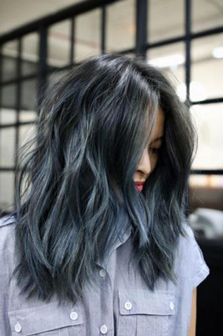 Hair Blue Color Light