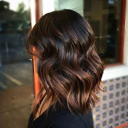 Hair Balayage Lob Caramel