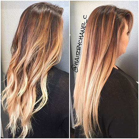 Hair Ombre Balayage Straight
