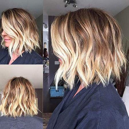 Bob Choppy Blonde Hair