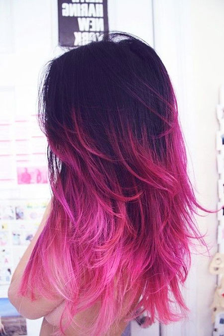Ombre Hair Pink Purple