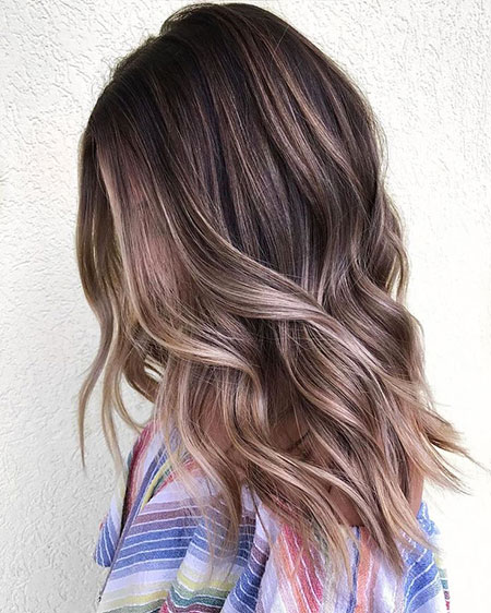 Brown Balayage Light Hair