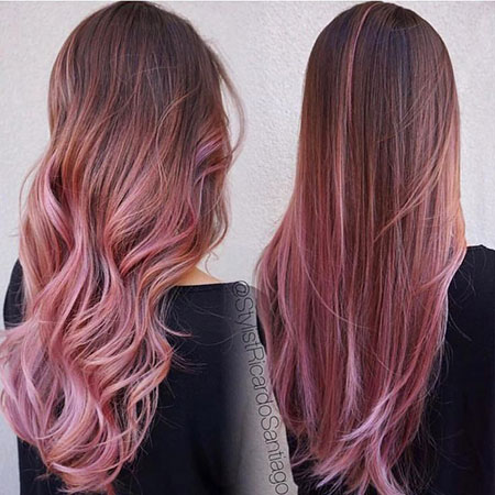 Hair Mauve Color Chocolate
