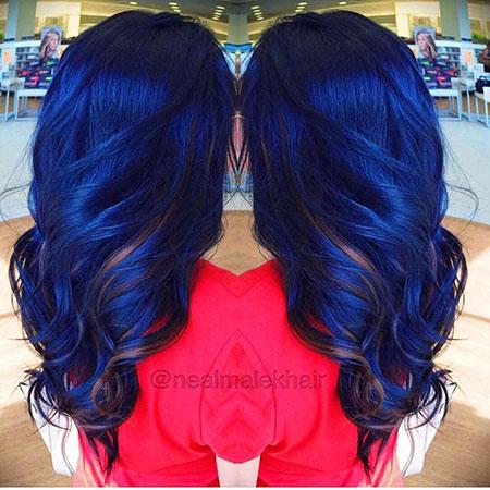 Hair Blue Ombre Color