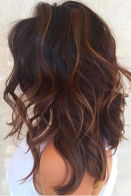 Hair Balayage Highlights Caramel
