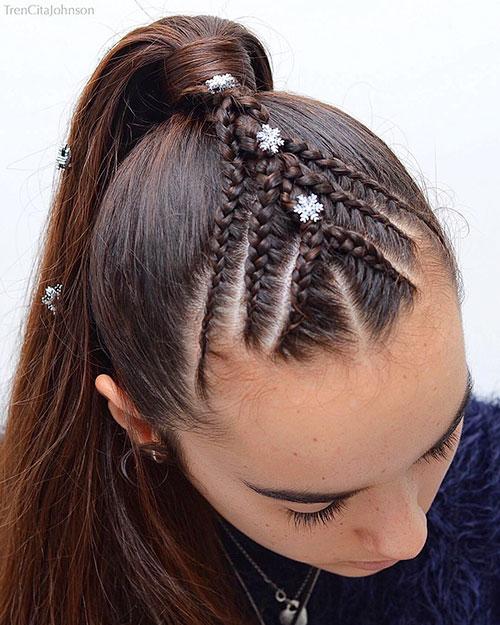 Zöpfe für kleines Mädchen mit kurzen Haaren