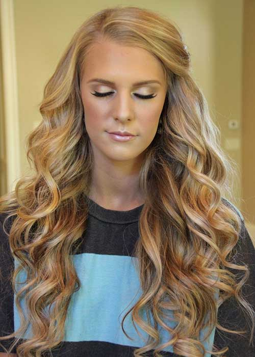 Curled Hairstyles Pinned To The Side Hair