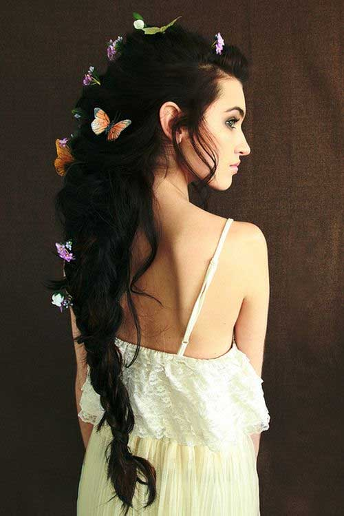 Hair with Braided Butterfly Accessories