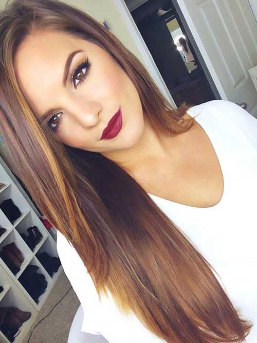 Trendy Brown Hairstyle With Highlights