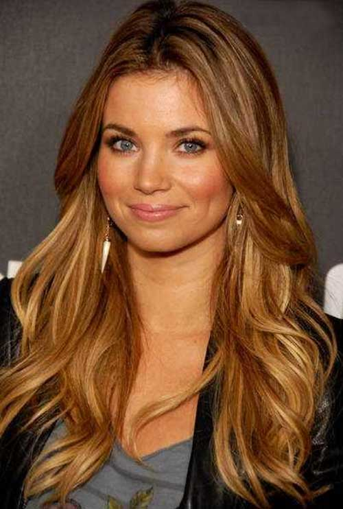 Dark Blonde Long Layer Hair