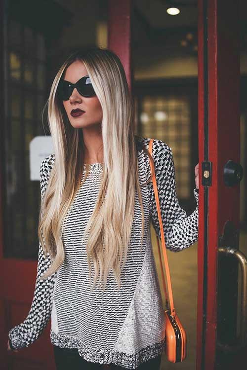 Grey Balayage Hairstyle