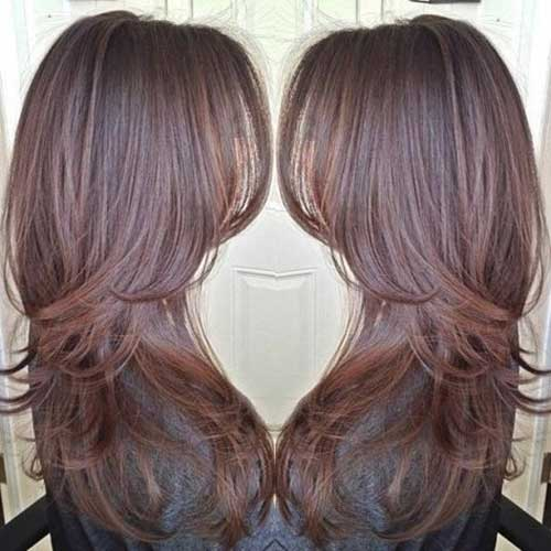 Long Brown Layered Hairstyle