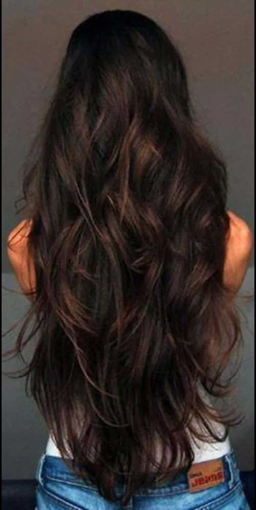 Long Brunette Hairstyle